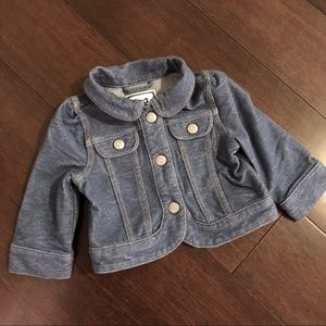 NWOT 6-12 Month Gymboree Stretch Jean Jacket